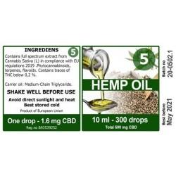 Økologisk Hamp olie - 03 pct